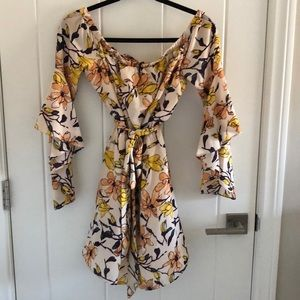 Lulu's Off-the-Shoulder Floral Dress